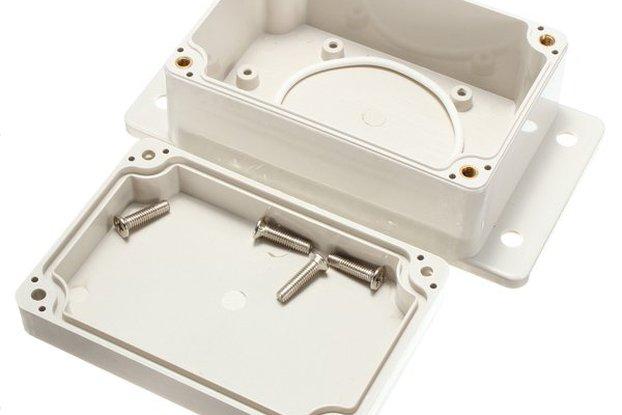 White Plastic Waterproof Electronic Case PCB Box 1
