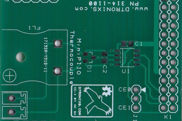 Raspberry PIIO - MiniPIIO Thermocouple add-on board - PCB Only