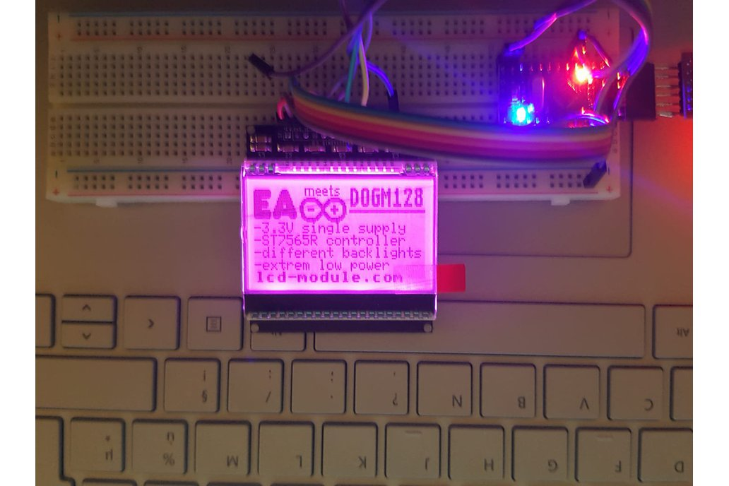AE DOGM-128 Display holder, breadboard compatible 4
