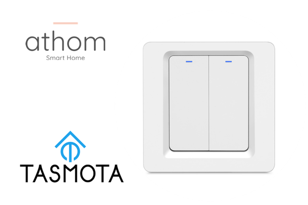 Pre flashed Tasmota WiFi EU Switch 2 gang