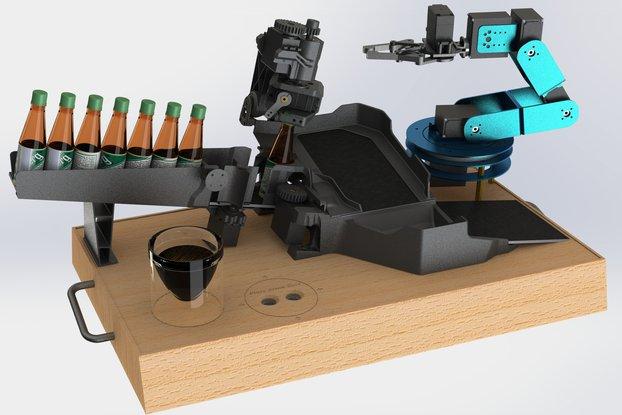 Desktop Bartender Robot