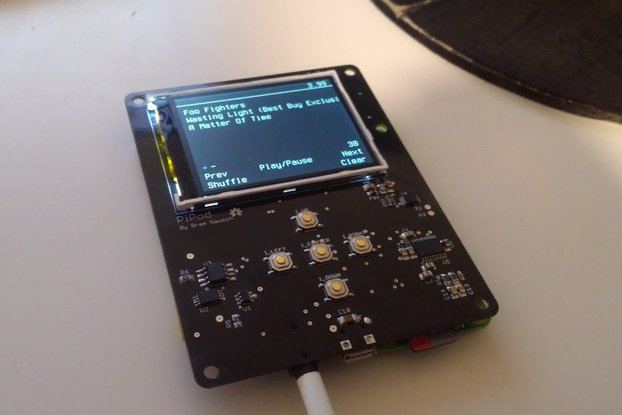 PiPod - Raspberry pi Zero portable music player