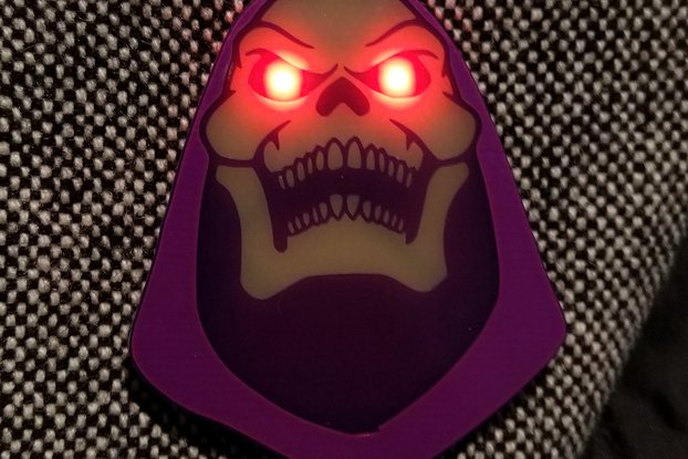 """Myah!"" Badge (Inspired by Skeletor)"
