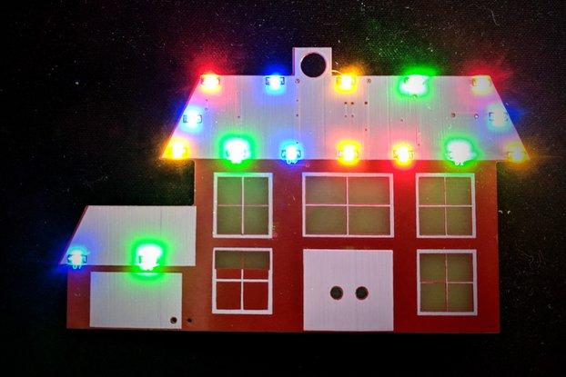 Lit Christmas House Ornament