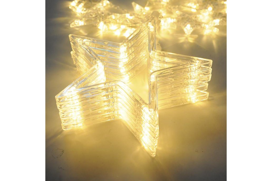 Christmas Lights Fairy Star LED Curtain String 13