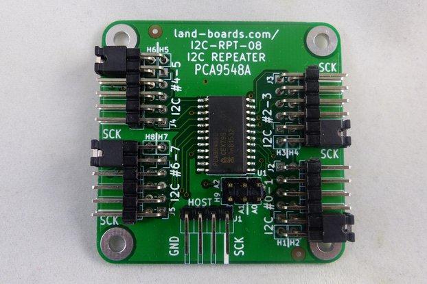 8-Channel I2C Repeater/Multiplexer (I2C-RPT-08)