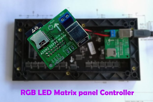ESP32 RGB LED(HUB 75 type) Matrix panel Controller