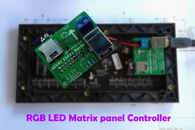 AZSMZ ESP32 Matrix For RGB LED(HUB 75 type) panel