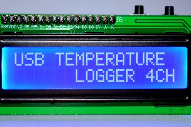 4 CH USB Temperature Data Logger