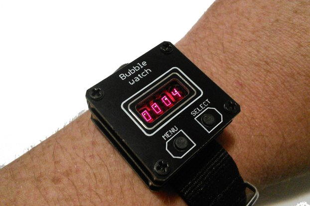 retro wrist watch with bubble display QDSP 6064