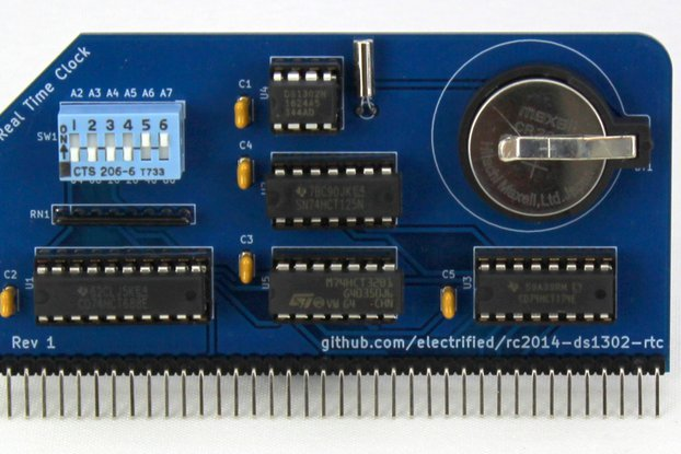 DS1302 Real Time Clock Module for RC2014