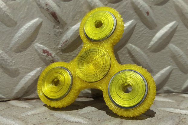 TriSpinner 3D Printed Fidget Spinner - The Knurl