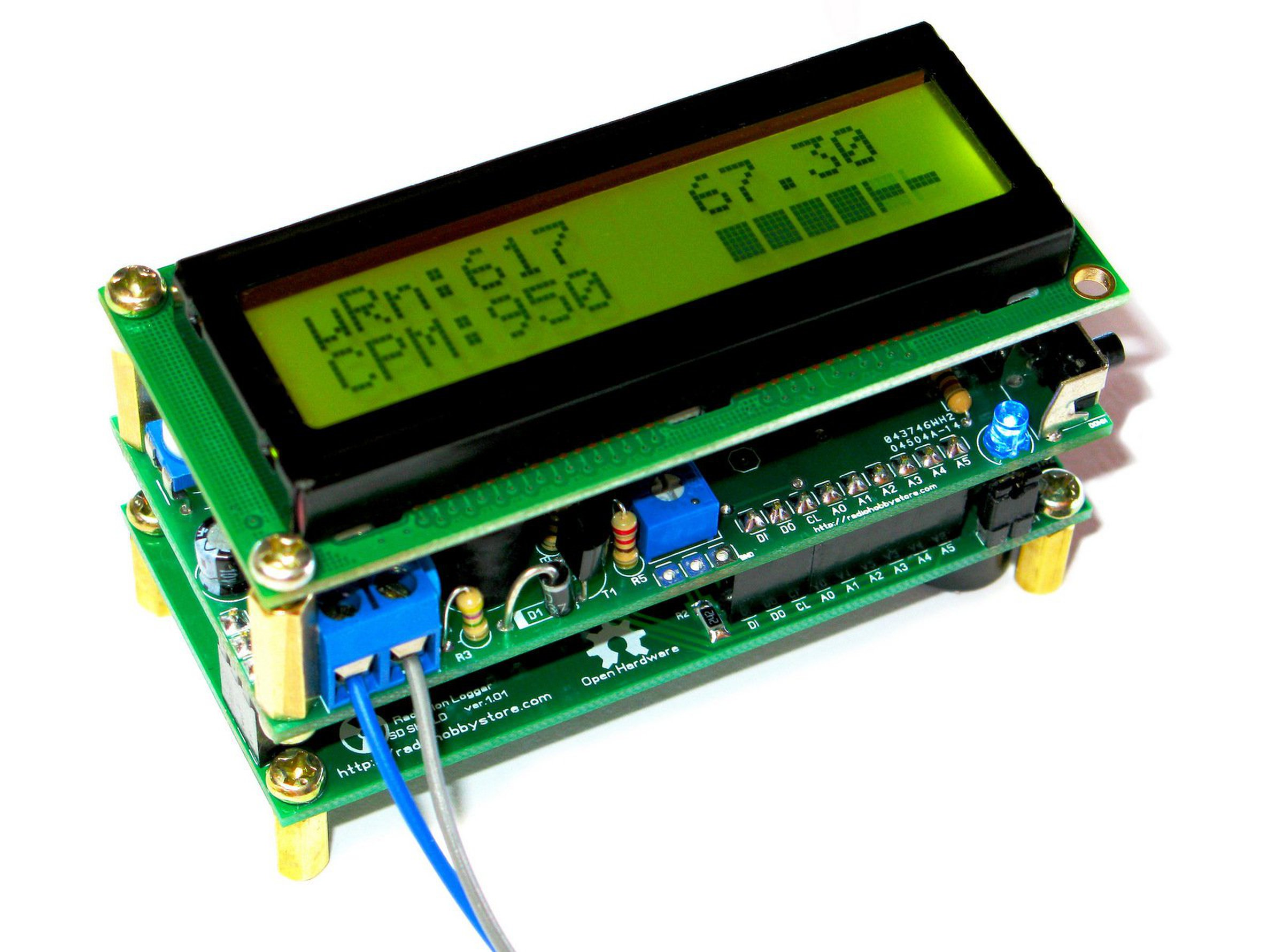 Diy arduino ide geiger counter with sd logger from rh