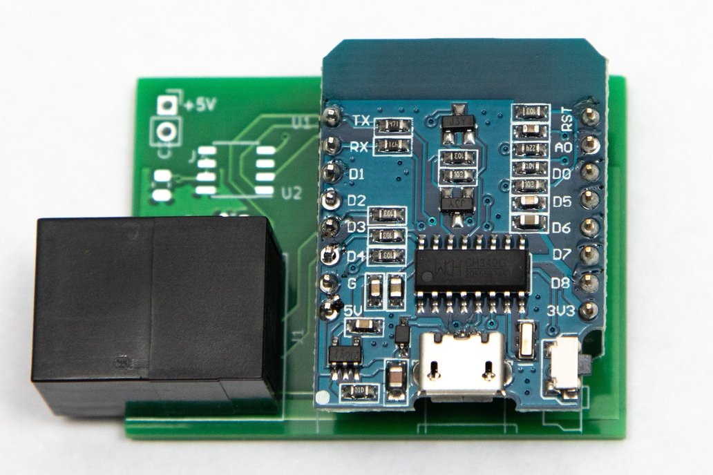 ESP8266 D1 Mini RJ45 Breakout board 1