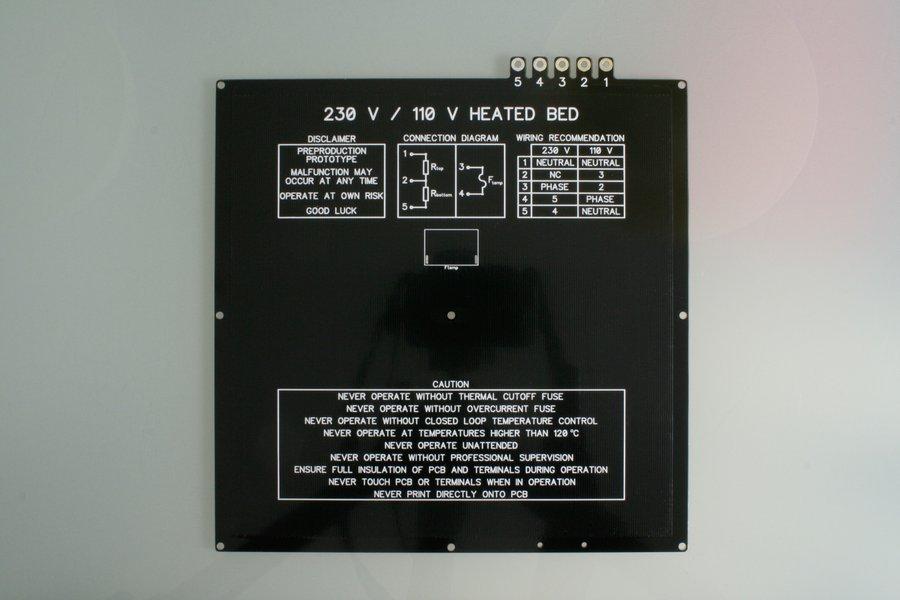 Makertum MK1 – 230/110 V~ Heated Bed Full Kit+SSR