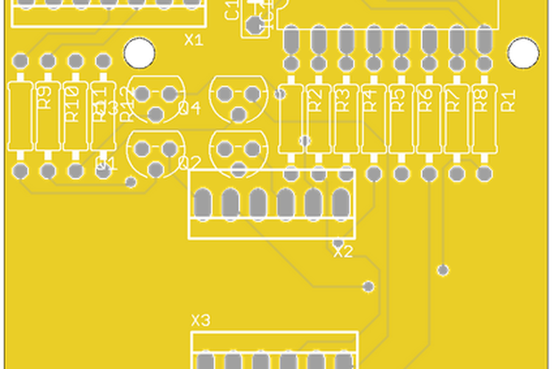 7-segment 4-digit  LED display - PCB only