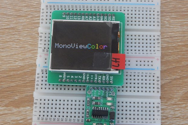 monoViewColor- An arduino with LCD display