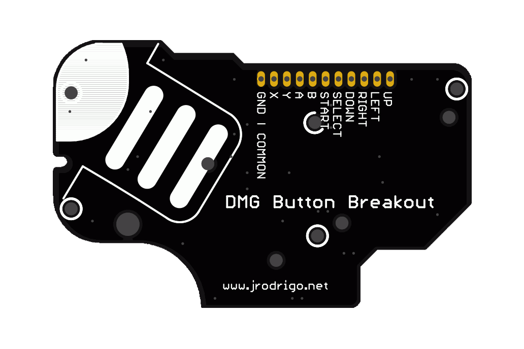 DMG Button Breakout PCB for Game Boy Mods Zero 3