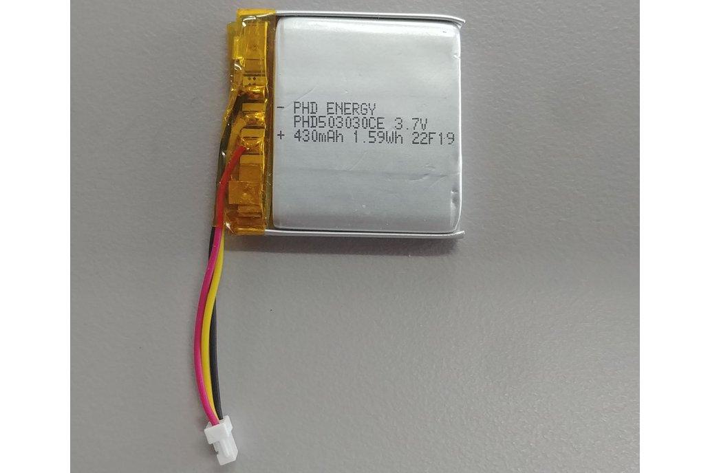 LiIon battery, 430mAh, 3.7v 1
