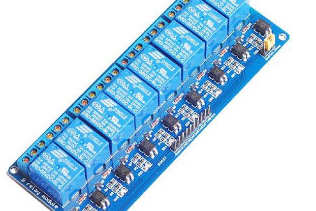 Optocoupler 8 path relay panel 5v/12v/24v