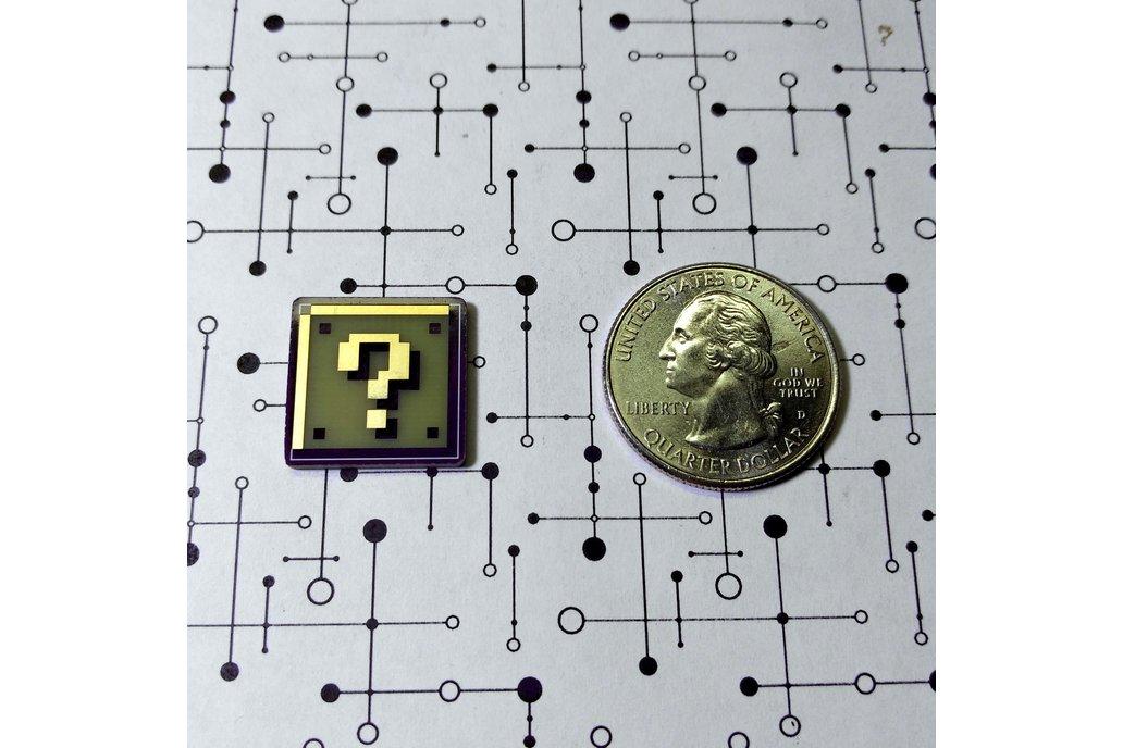 Super Mario Question Block PCB Lapel Pin 3