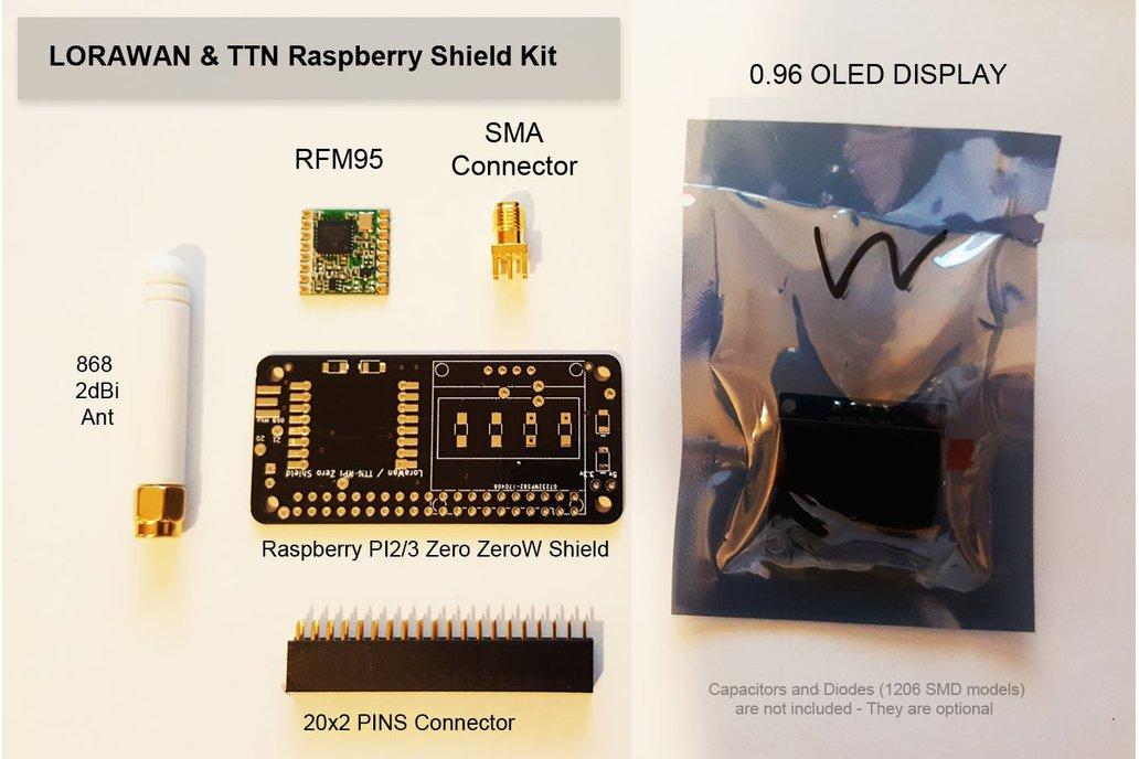 LoRaWAN/TTN Kit for the Raspberry PI 2