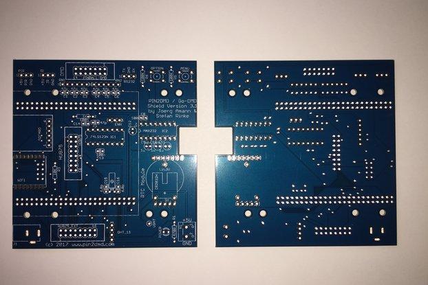 Pin2DMD / goDMD v3.1 bare blue PCB