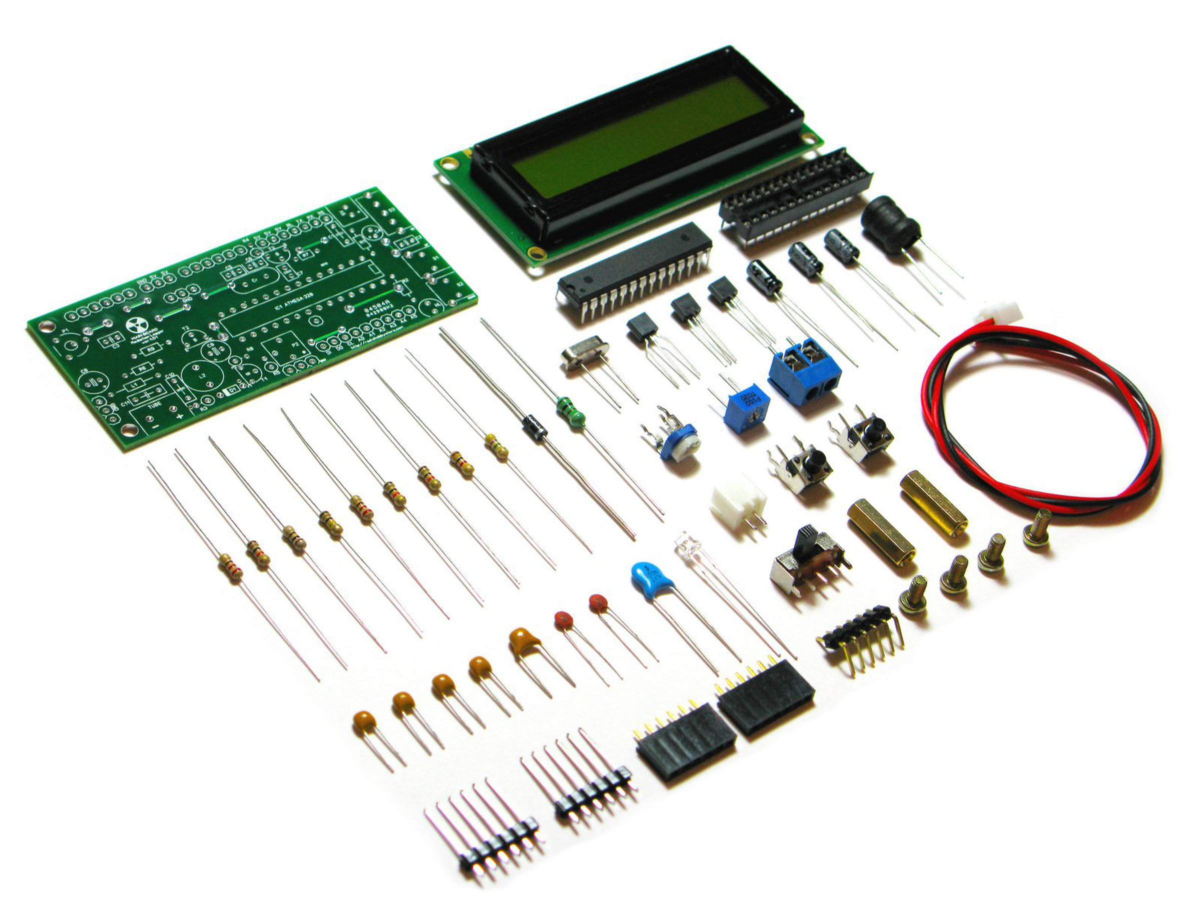 Diy arduino ide geiger counter kit with uart log from rh