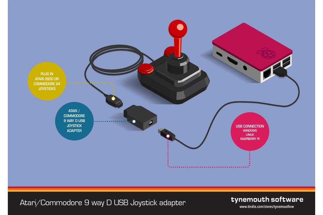 9 way D USB joystick adapter 2