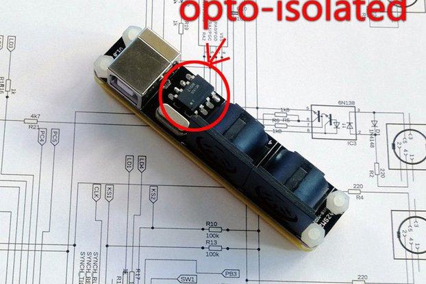 AZSMZ opto isolated USB MIDI Converter