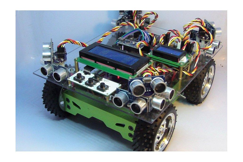 OctosonarX2 - connect 16 x HC-SR04 to Arduino 1