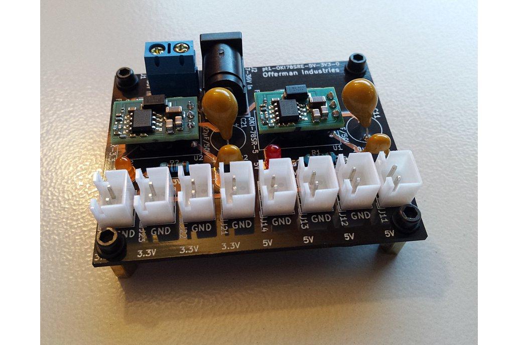 3.3V & 5V DC-DC power supply, 7-36V in, 2x1.5A out 1