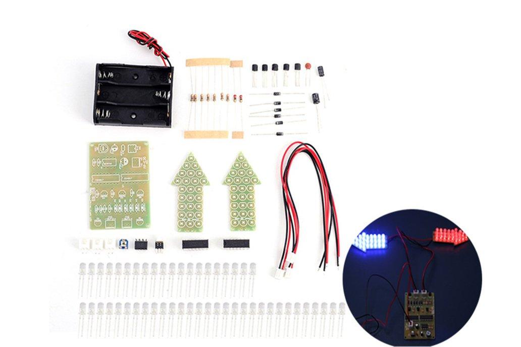DIY Kit Red Blue Analog Traffic Signal Indicator 1