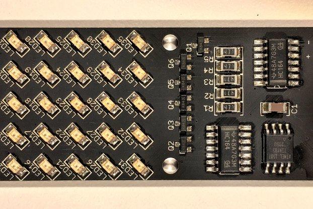 NOVA SMT BLINKY : Hackable 5x7 dot matrix