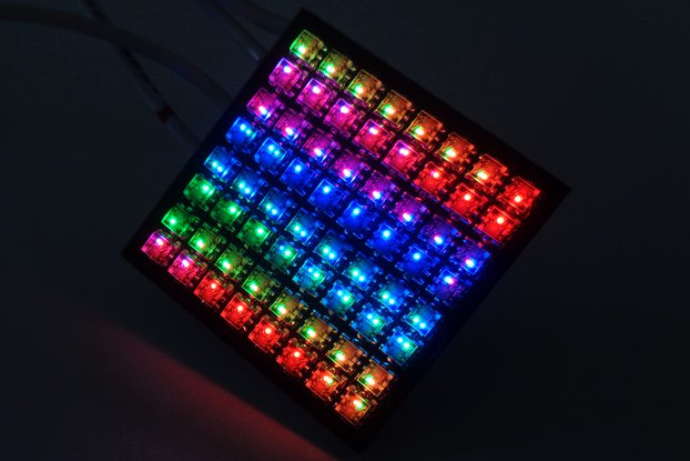 APA102-2020 8x8 RGB LED Matrix