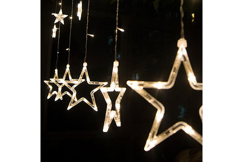 Christmas Lights Fairy Star LED Curtain String 2