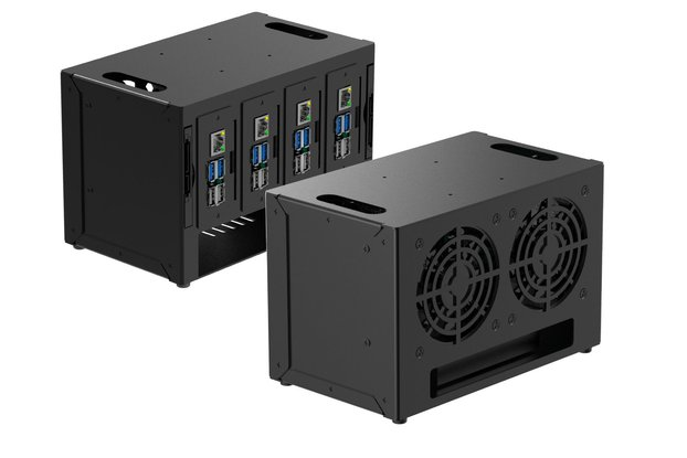 Complete Enclosure for Raspberry Pi Cluster