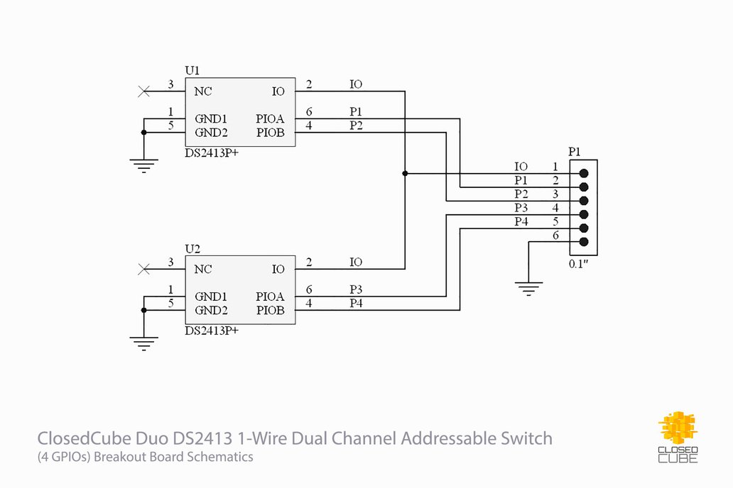 Admirable Duo Ds2413 1 Wire Dual Channel Addressable Switch From Closedcube On Wiring Digital Resources Skatpmognl