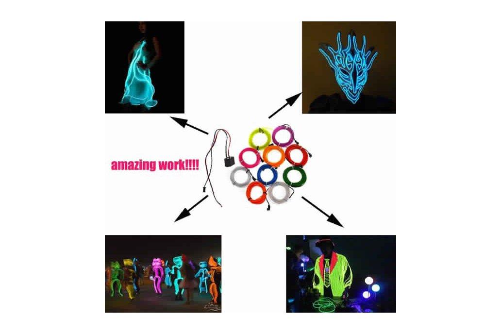 4M 10 colors 3V Flexible Neon EL Wire Light Dance  2
