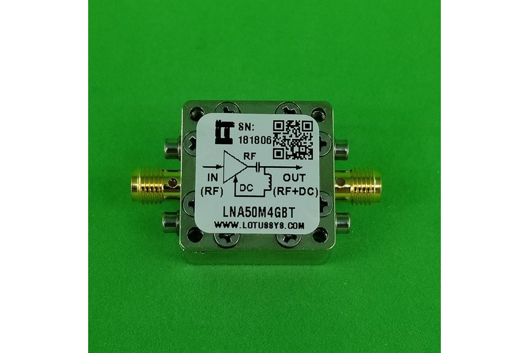 Broadband LNA 0.8dN NF 50MHz~4GHz with Bias Tee 1