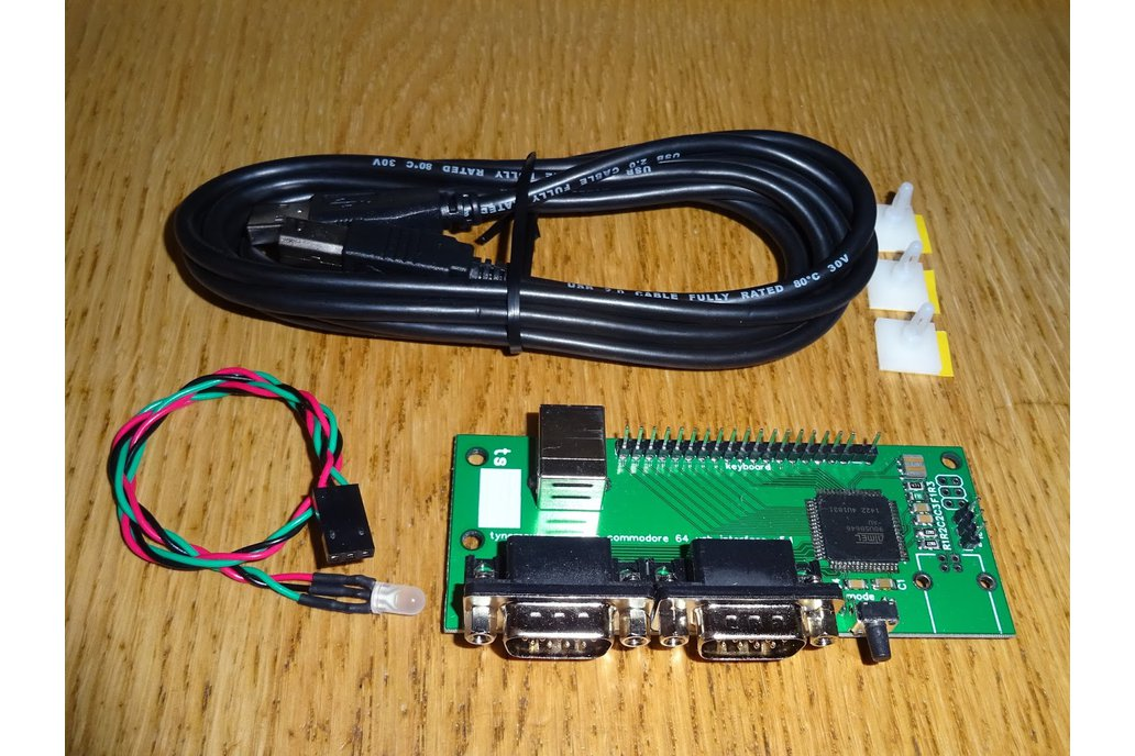 Commodore 64 USB keyboard and dual joystick kit 9