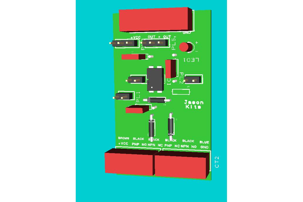 Universal NPN PNP inductive sensor interface board 3