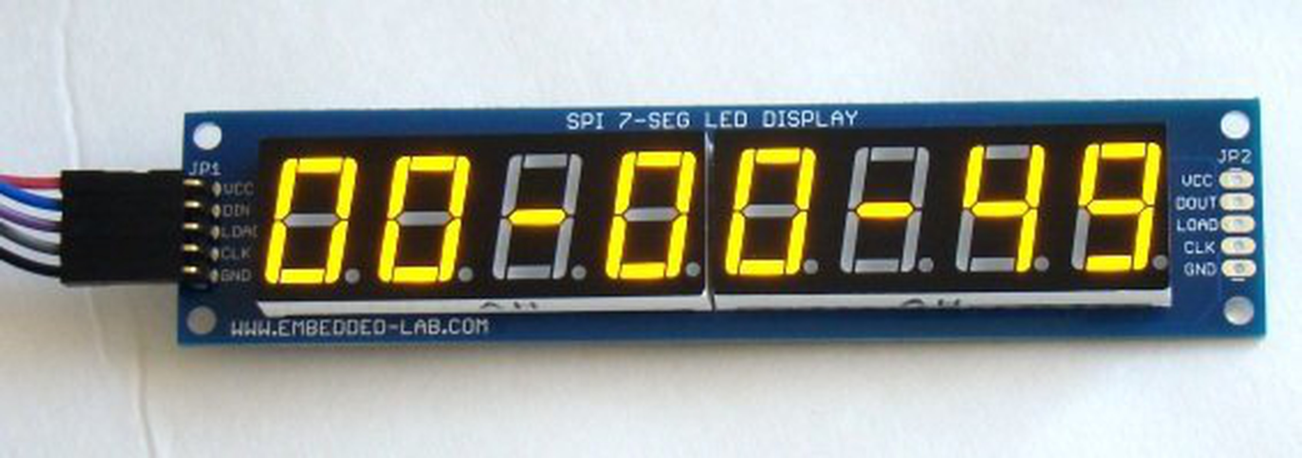 PCB For Serial 7 Segment LED Display From Embedded Lab On
