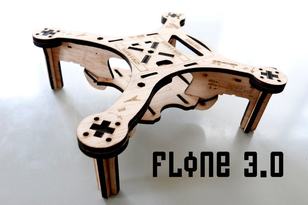 Flone 3.0 Drone Wood Frame