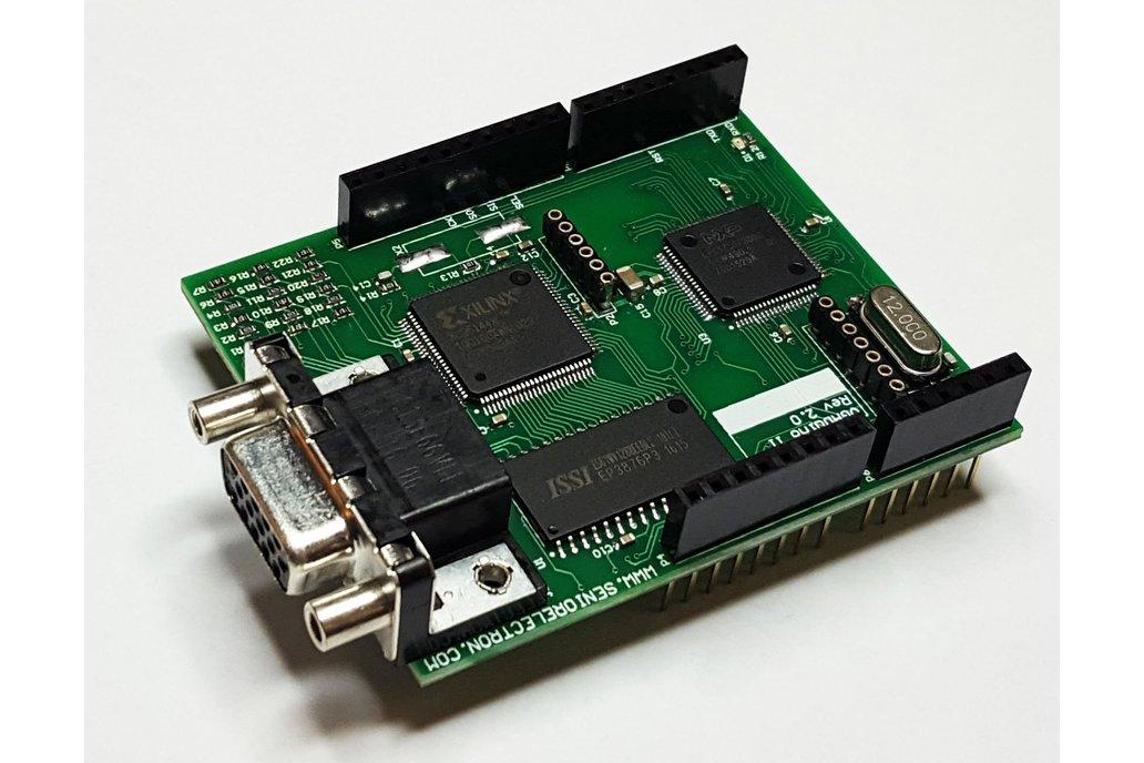 VGADuino-II 256 Color VGA shield for Arduino 1