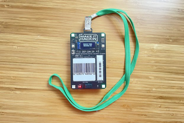 MakeItHackin DEF CON 29 Electronic Badge