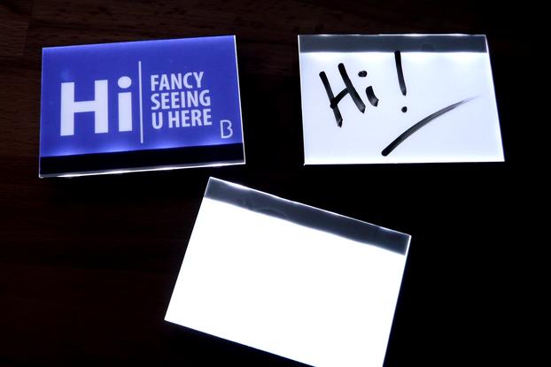 LED Backlit Badge