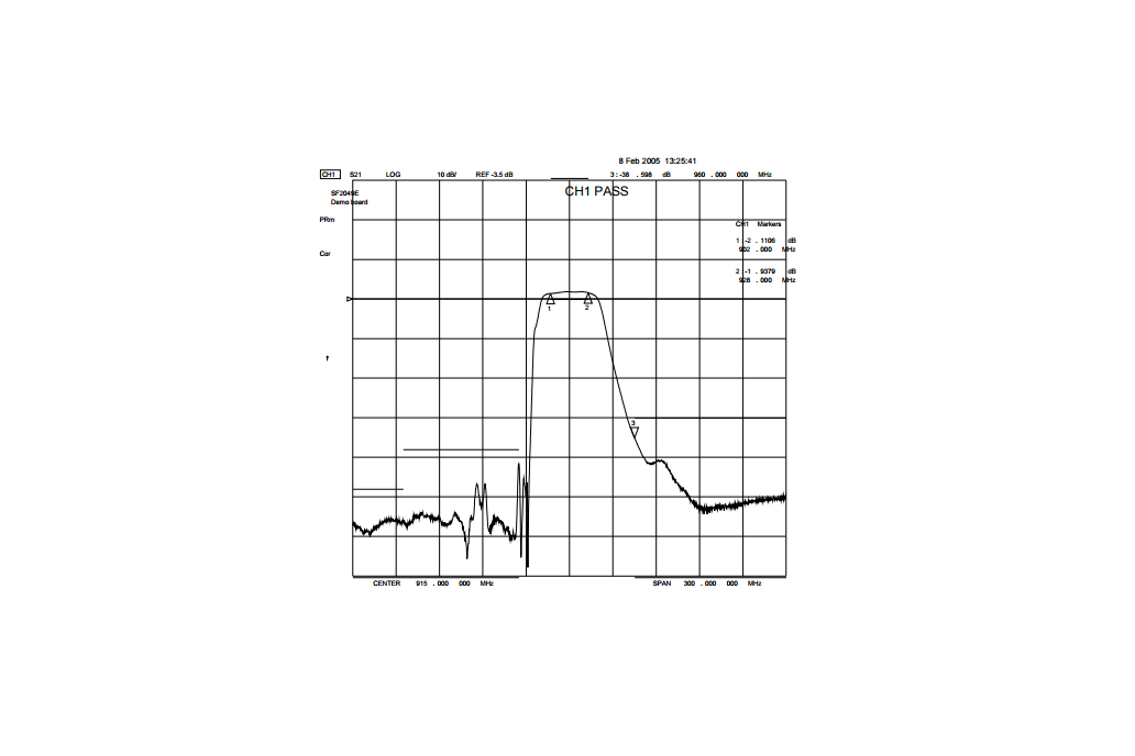 915 MHz ISM Band Pass filter