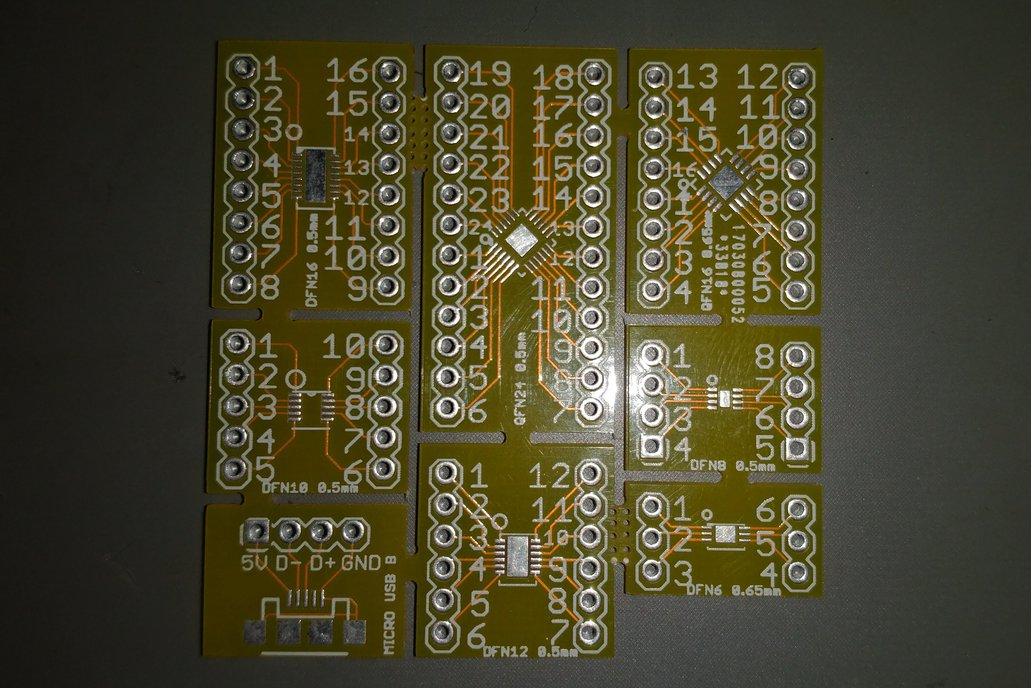 DFN & QFN breakout Boards 1