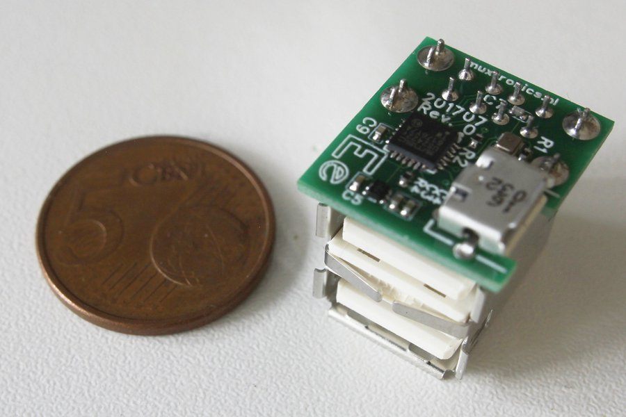 Microhub - the smallest USB hub with connectors!